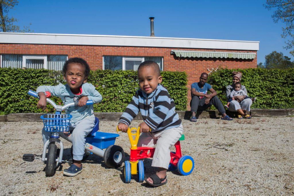 Het gezin uit Ethiopië voor hun nieuwe woning