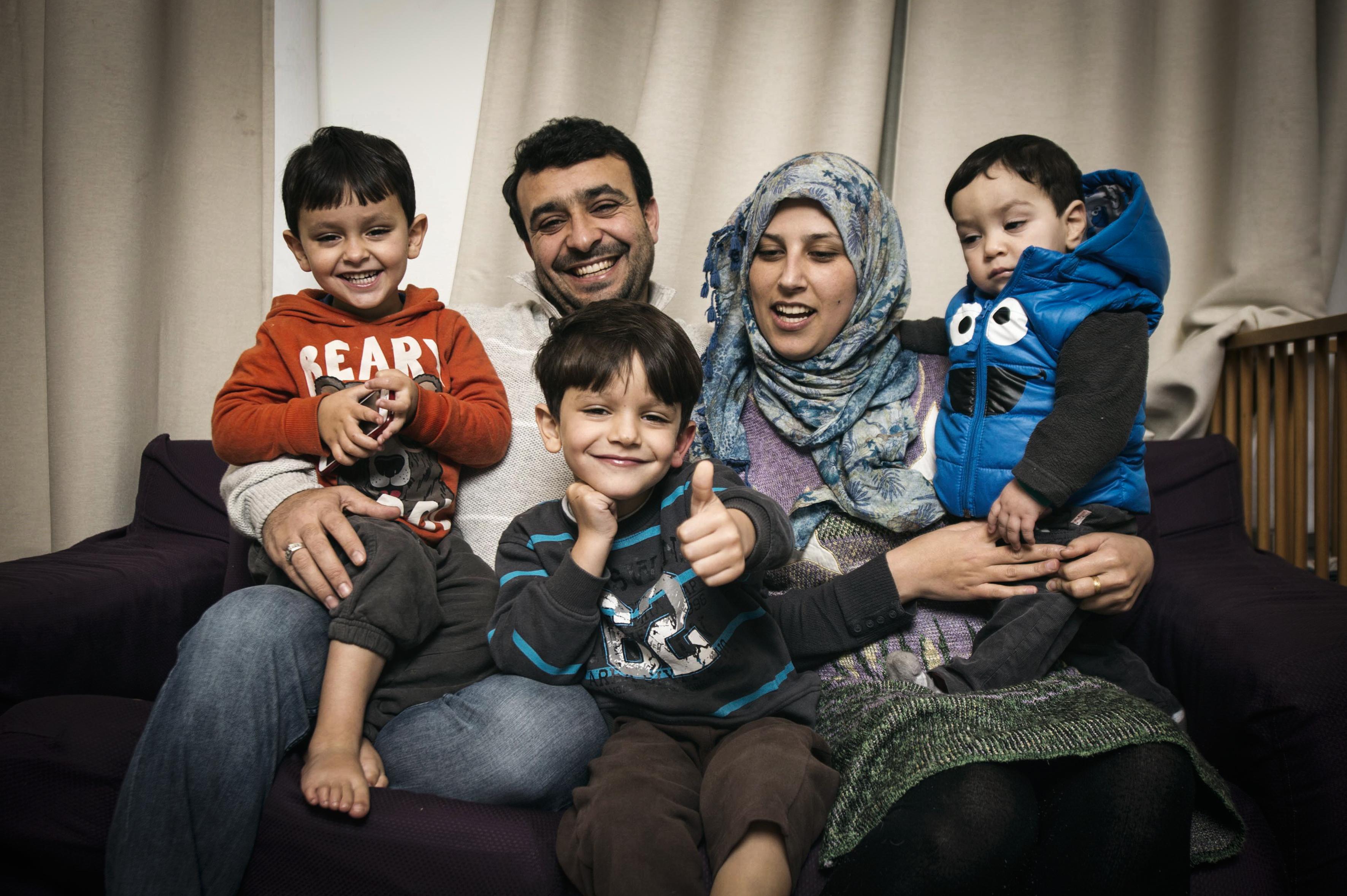 het gezin van Malek & Fathima ©Jan Van Bostraeten